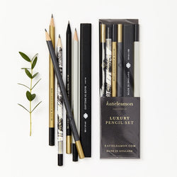 Black & Gold Pencil Set