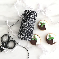 Black & White Twisted Bakers Twine