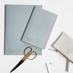 Soft Blue Monograph Notebook A5 (Dot Paper)