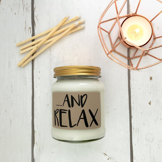 And Relax Warm Vanilla Sugar Scented Soy Candle