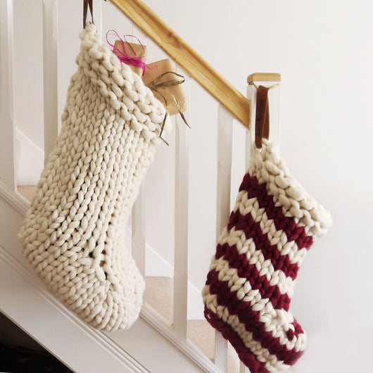 Chunky Knit Merino Wool Stocking