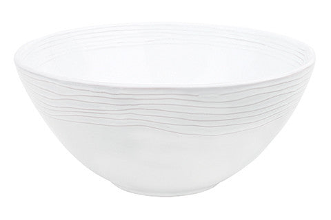 Canvas Home White Lines Serving Bowl