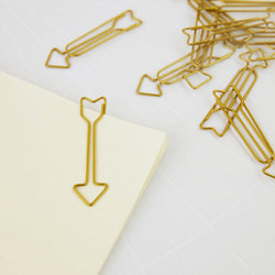 Brass Arrow Paper Clips (15 per pack)