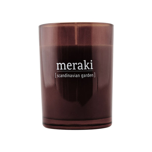 Meraki Large Brown Jar Scented Candle  - Various Fragrances Available