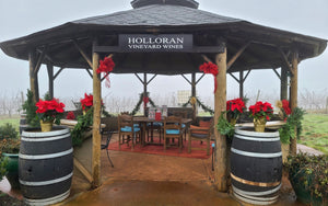 Join Us Indoors in our Tasting Room or Outdoors at the Tiki Hut