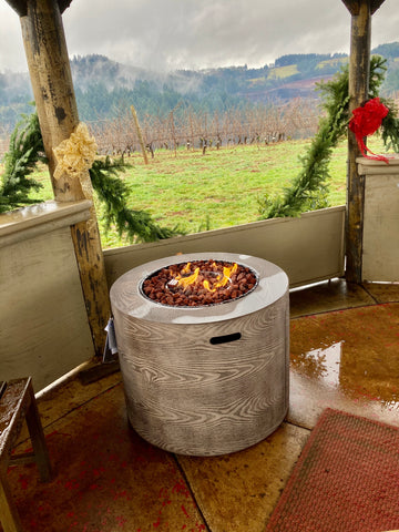 HVW Fire pit at Ana Vineyard Tiki Hut