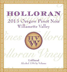 Holloran 2013 Pinot Noir – Willamette Valley