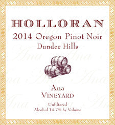 Holloran 2014 Pinot Noir – Ana Vineyard