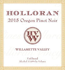 Holloran 2015 Pinot Noir – Willamette Valley