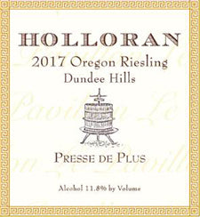 2017 Holloran Presse de Plus (Late Harvest Riesling) - 375 ml