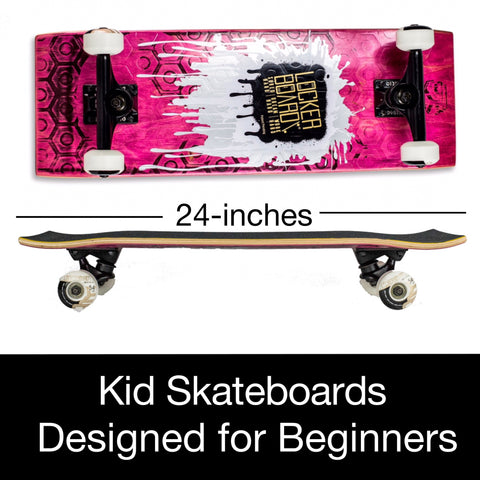 NEW SHRED'IT SKATEBOARD:<br><b>The Gold Bar (24-inch skateboard designed for beginner skaters)</b>