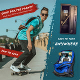 TRAVEL DECK ONLY:<br><b>17-inch skateboard deck designed for school and traveling</b>
