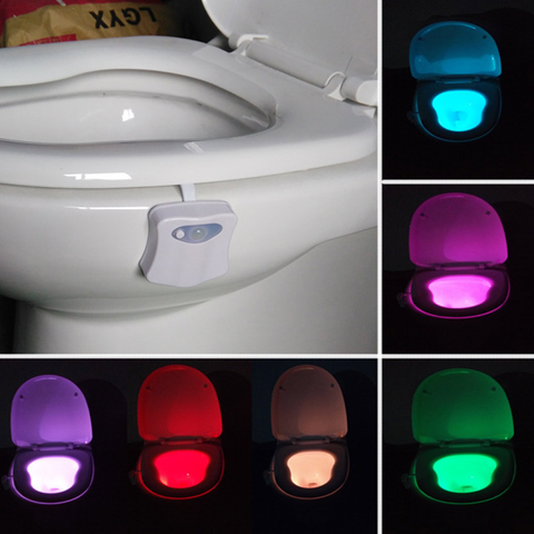 8 Colors Bathroom Toilet Waterproof LED Nightlight