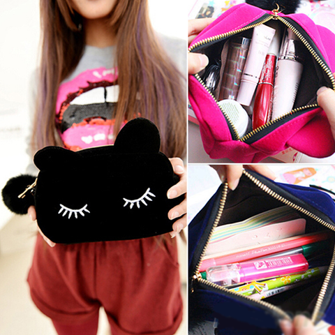 Cartoon Cat Cosmetic Travel Bag