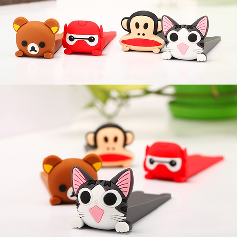 2pcs Cute Cartoon Baby Safety Door Stopper