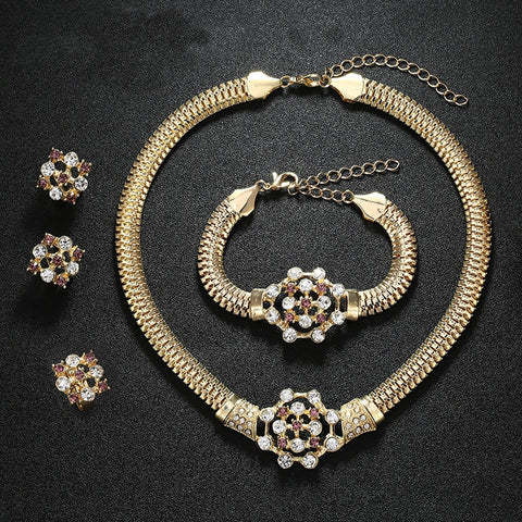 African  Gold Plated Beads Jewelry Sets