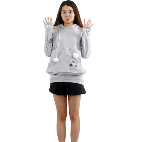 Cat Lovers Hoodies With Cuddle Pouch - Zetig.com #1 Online Fashion Store for Men & Women