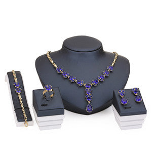 African Sapphire Jewelry Sets for Women