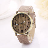 Wood Grain Quartz Watch Wristwatch