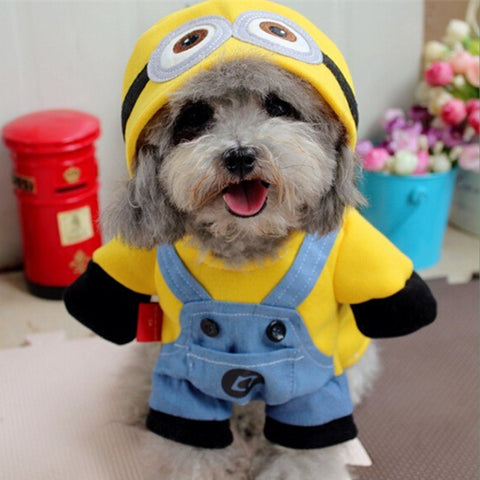 Winter Pet Dog Clothes Yellow Minions Costume Dog Hoodies Cheap Small Dog Coat Jacket Lovely Dog Cat Outfit for Chihuahua 25 - Zetig.com #1 Online Fashion Store for Men & Women