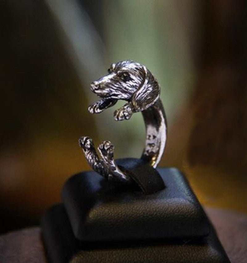 2016 Fashion Punk Unisex Girl Women Mens Cute Dog Ring - Zetig.com