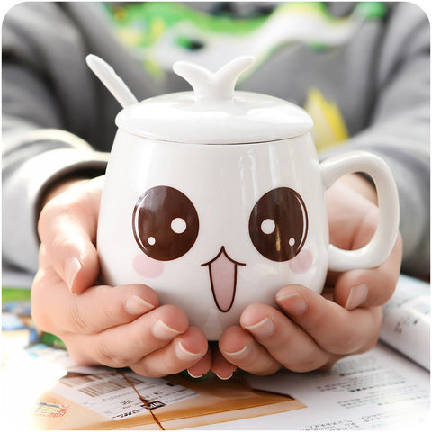 Lady Cute Expression Face Cup For Teenager Girls Milk Coffee Mugs - Zetig.com #1 Online Fashion Store for Men & Women
