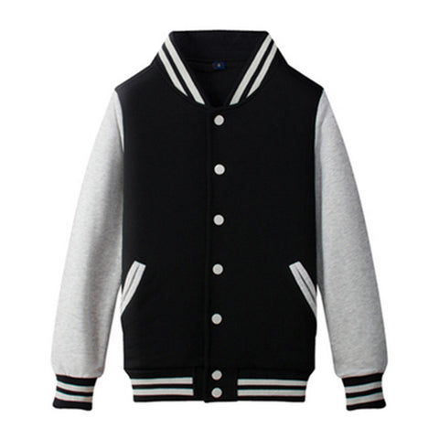 baseball jacket fashion female Leisure Baseball Thick Fleece coat - Zetig.com