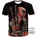 2016 Men 's US science fiction dead Deadpool Anime 3D men' s short sleeved T shirts fashion tshirt homme t-shirt cool tee - Zetig.com