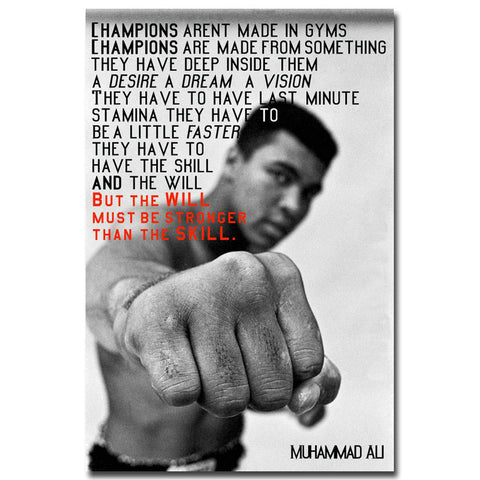Be Stronger - MUHAMMAD ALI Motivational Quote Art Silk Poster Inspirational Picture for Wall Decor - Zetig.com
