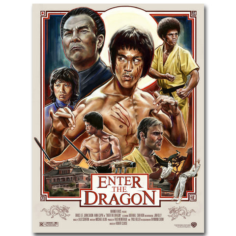 Bruce Lee ENTER THE DRAGON Art Silk Poster  Super Kung Fu Star Movie Picture for Wall Decor - Zetig.com #1 Online Fashion Store for Men & Women