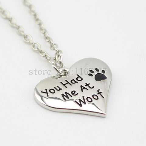 Necklace Pet Lover Dog Paw Print - Zetig.com #1 Online Fashion Store for Men & Women