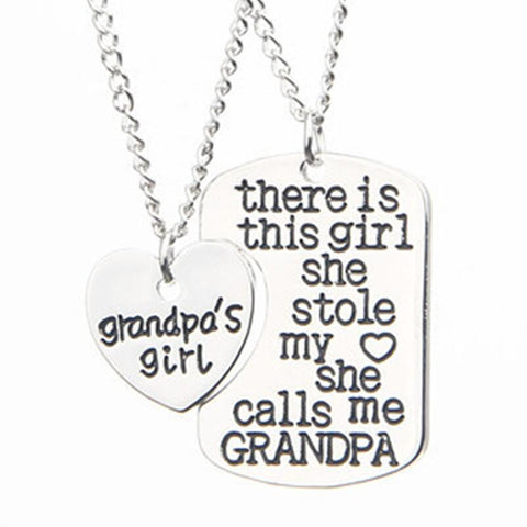 GRANDPA MOMMY GRANDMA Christmas Gift Pendant Necklace - Zetig.com #1 Online Fashion Store for Men & Women