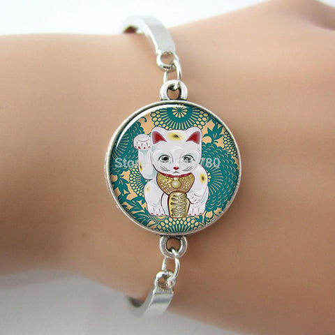 Lucky Cat art charm Bracelet ,metal bangle - Zetig.com #1 Online Fashion Store for Men & Women