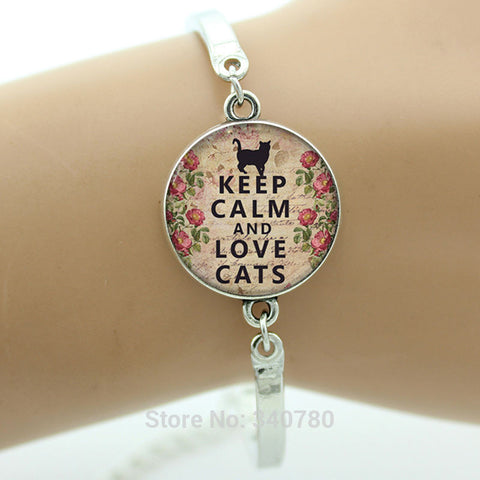 Keep Calm and Lovely Cats Bracelet - Zetig.com #1 Online Fashion Store for Men & Women
