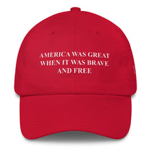 AMERICA WAS GREAT CAP