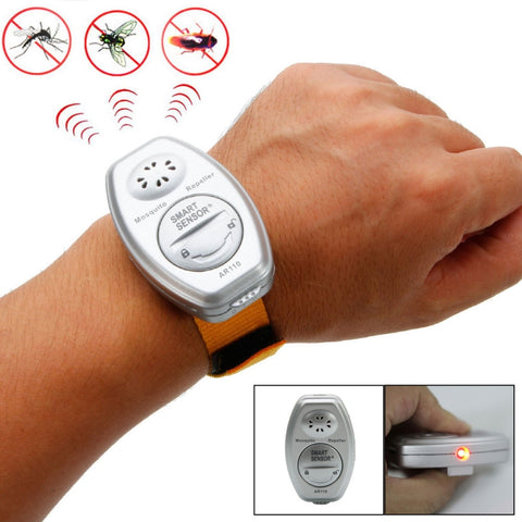 SMART Outdoor Camping Electronic Ultrasonic Anti Mosquito Insect Bug Repeller Repellent with Wrist Band