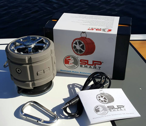 5W Bluetooth Speaker * Water Resistant w SUP Suction Mount
