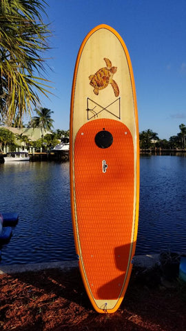 LED Lights on Tortuga Orange w Remote Control - Bamboo Extra Durable Multi-Purpose 10'6