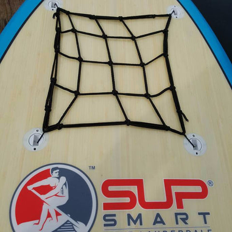 Cargo Net w Stainless Steel Rusr Resistant Hooks to Tie Down Valuables. 3 Sizes Fit most SUP's. More....