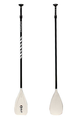 "33 ounce 2-pc Adjustable 67"" x 83"" Black Aluminum Shaft, White Plastic Blade, Black Plastic Handle"