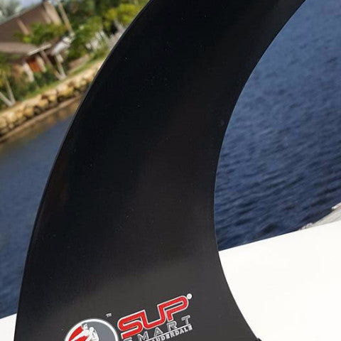 "Fins made for Stand Up Paddle Board - 9"" or 10"" Solid Black SUP Fin with optional choice of Matt or Gloss Finish using High End Fiberglass and Resin"