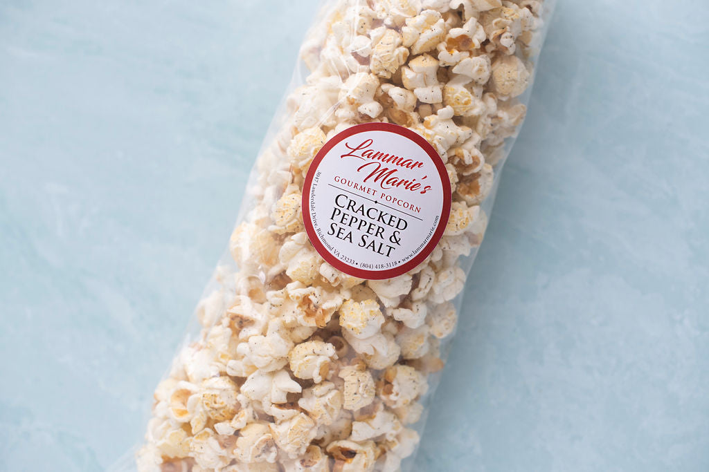 Cracked Pepper and Sea Salt Popcorn