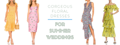 Gorgeous Floral Dresses for Summer Weddings