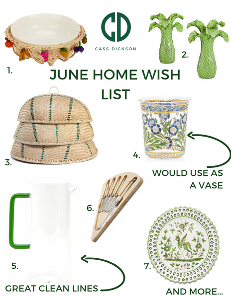 June Home Wish List: Dinner Party Edition