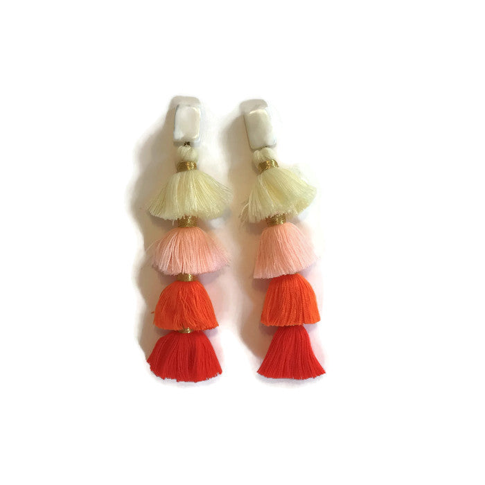 Ombre Tiered Tassels - Warm