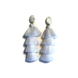 White Tiered Tassels