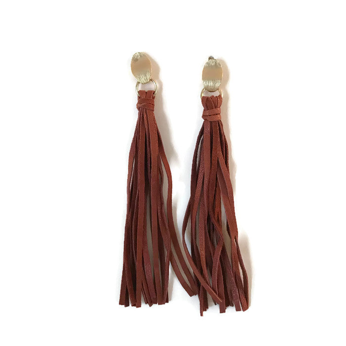 Long Leather Tassels