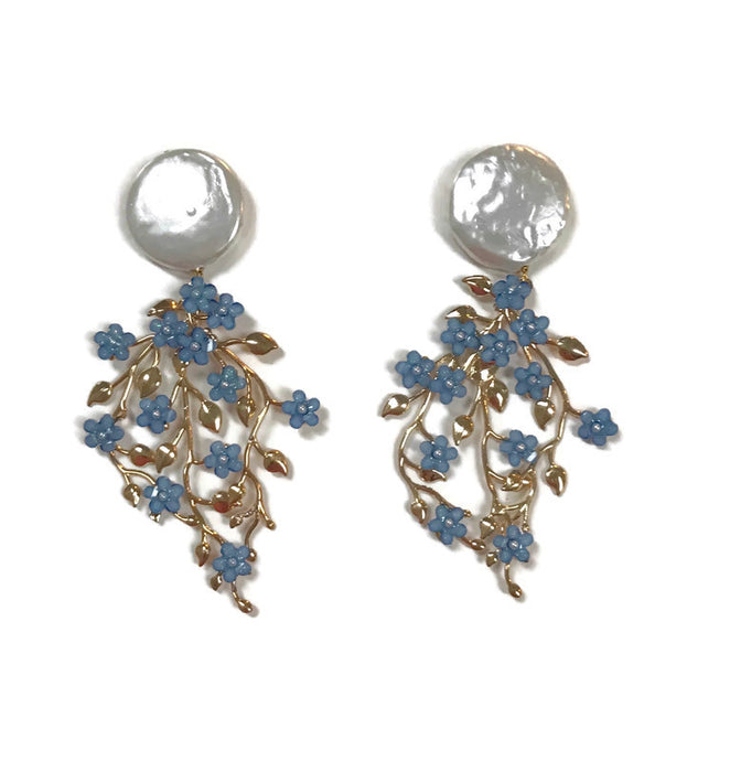 Forget Me Not Earrings - Blue