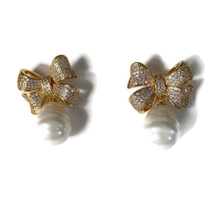 Bow & Pearl Drops