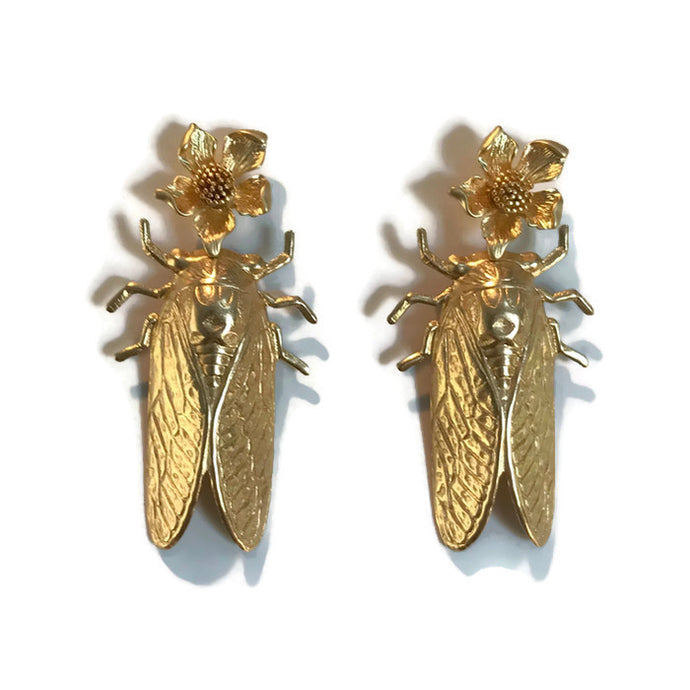 Cicada Earrings - Flora